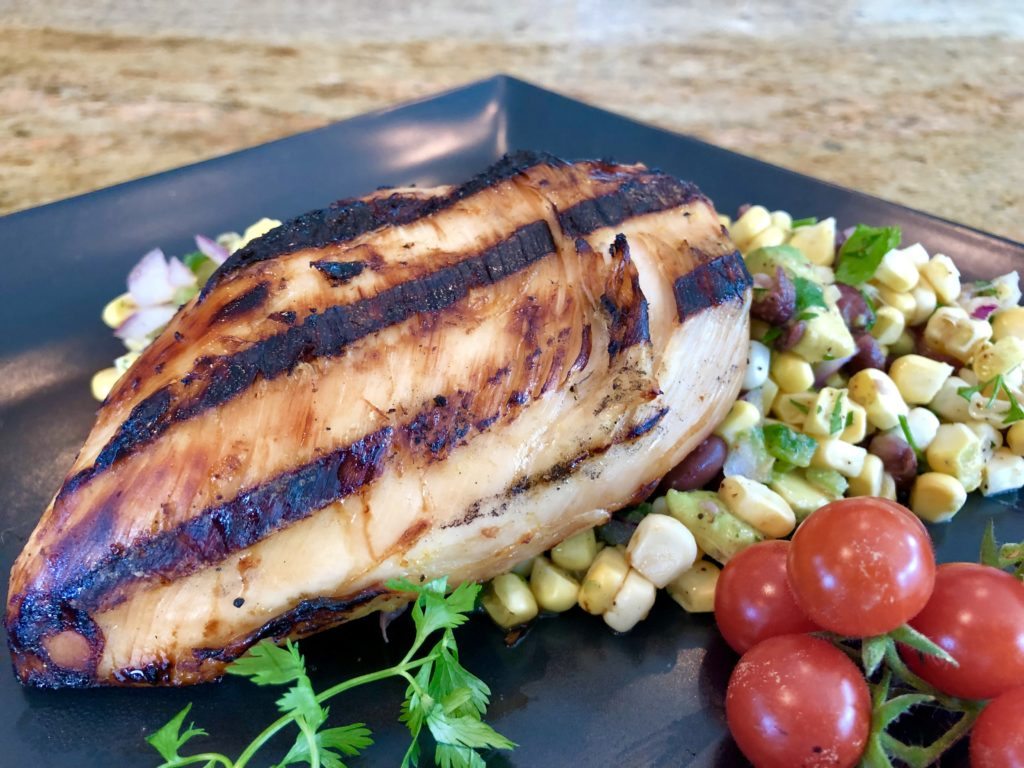 Grilled Tequila Lime Chicken with Corn Salsa