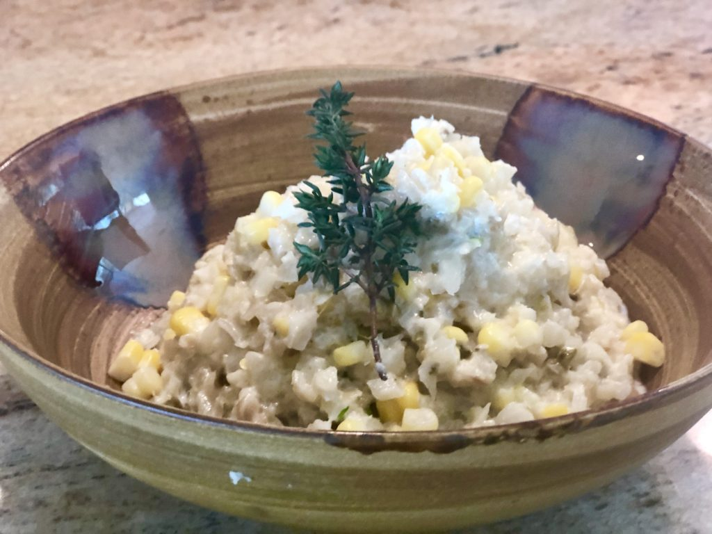 Creamy Cauliflower Risotto with Sweet Corn
