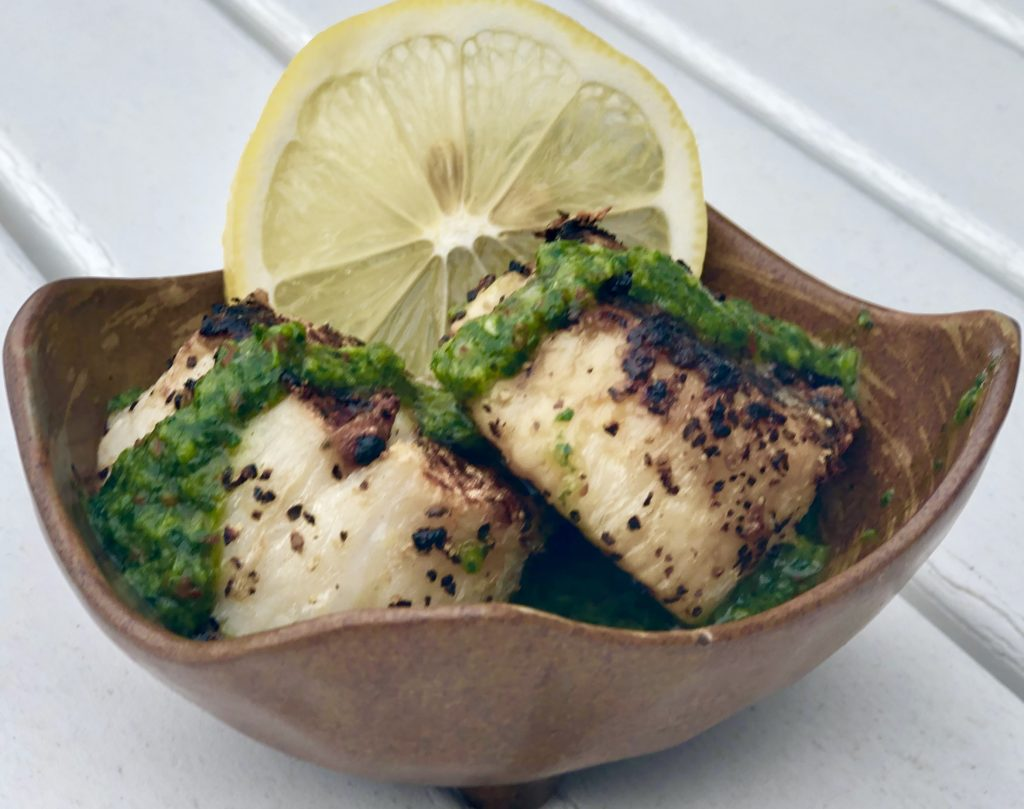 Grilled Scallops with Chimichurri Sauce