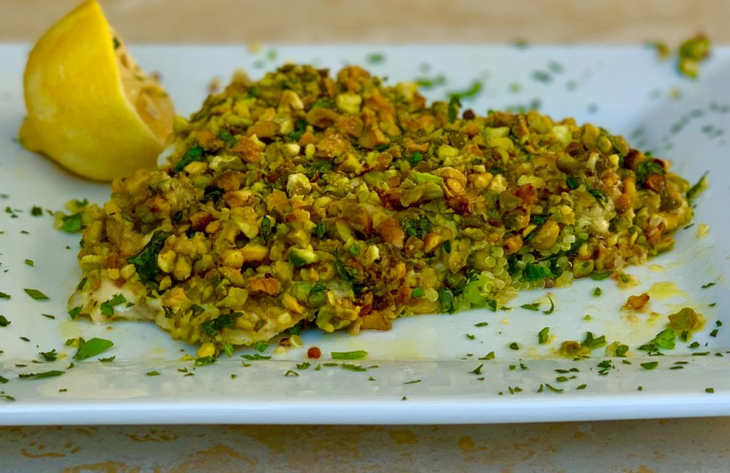 Pistachio Crusted Barramundi