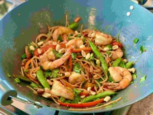 Thai Peanut Shrimp Stir-Fry
