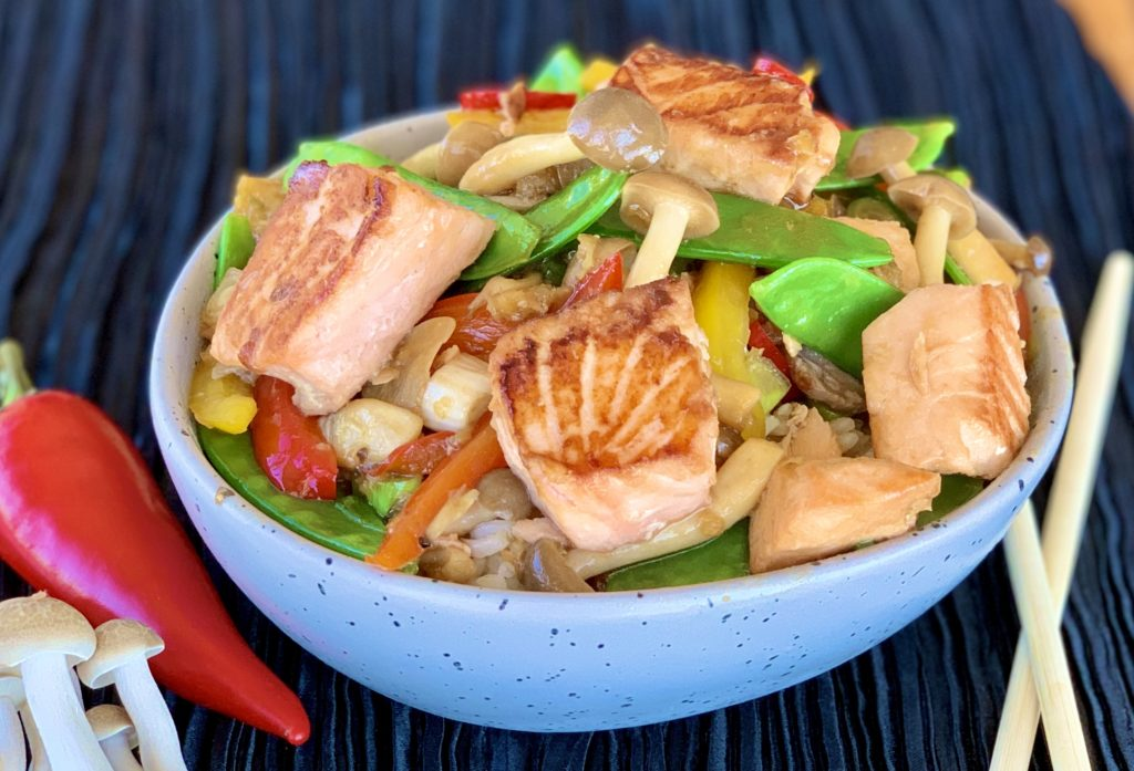 Salmon Stir Fry Recipe with Hoisin Sauce