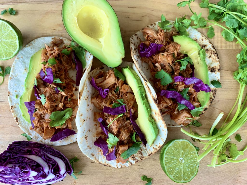 Vegan Jackfruit Tacos with Lime Crema