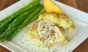 Crab Stuffed Flounder with Basil Aioli