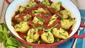 Vegan Stuffed Shells with Almond Ricotta
