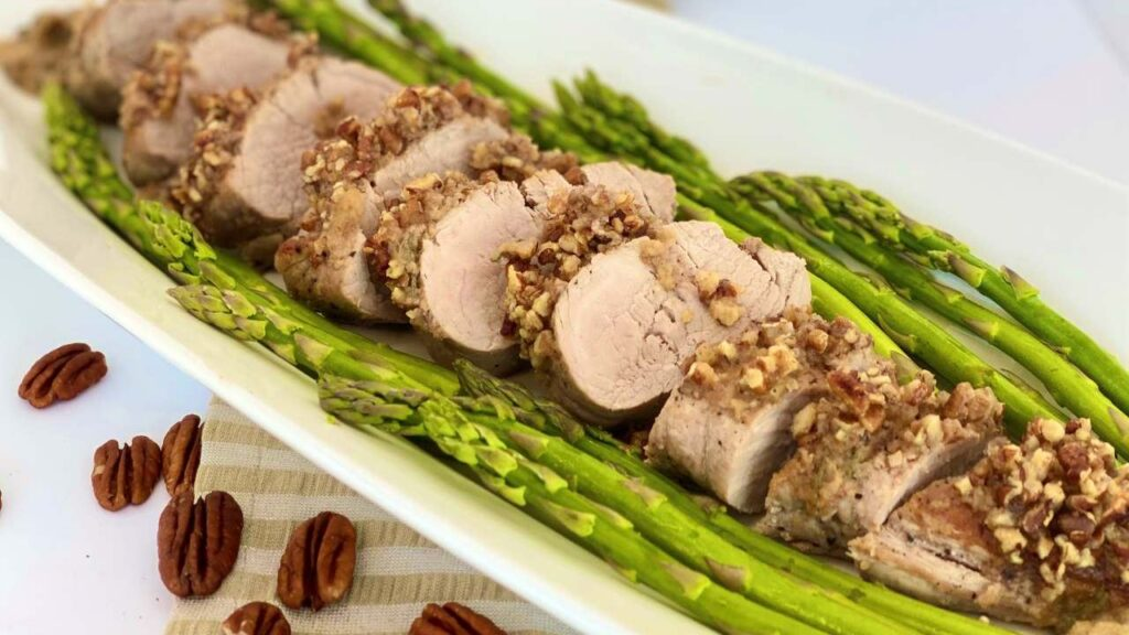 Maple Pecan Pork Tenderloin with Apple Sauce