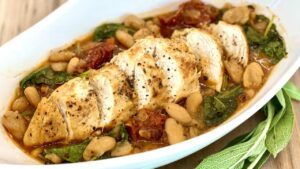 Tuscan Chicken and Cannellini Bean Stew