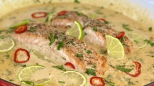 Creamy Coconut Lime Salmon