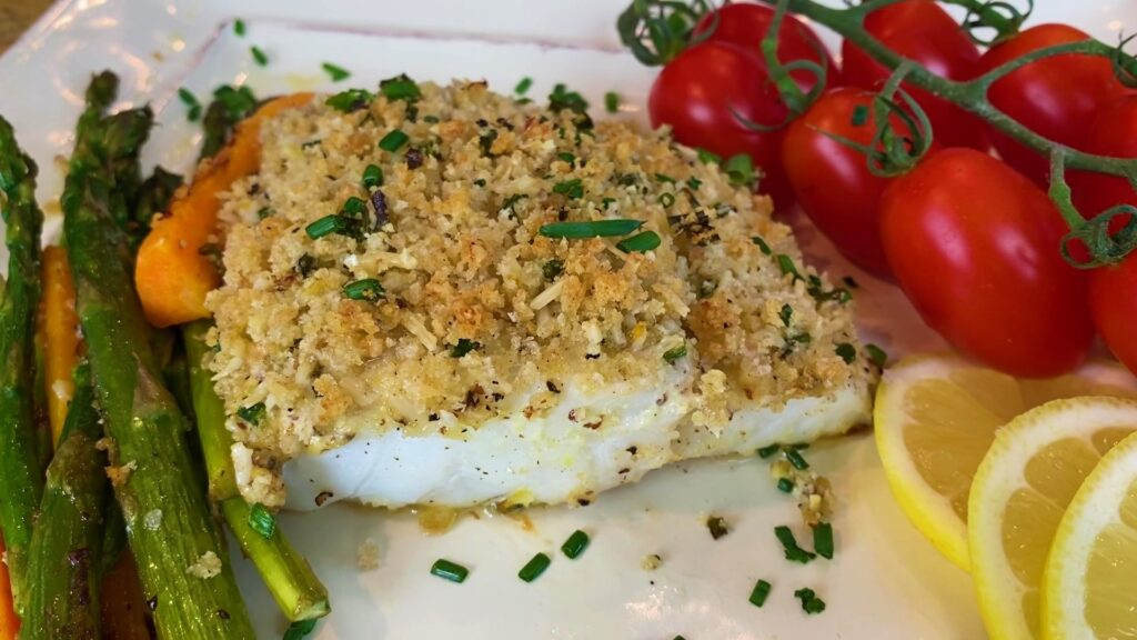Parmesan Crusted Baked Cod